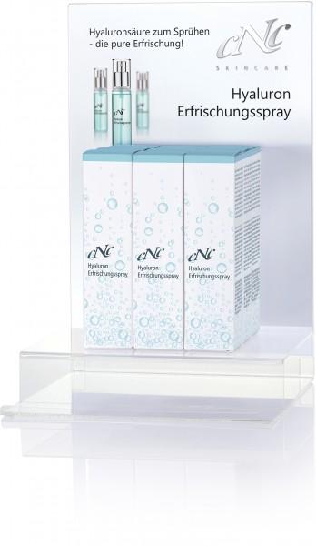 Hyaluron Erfrischungsspray Display-Komplettangebot, 9 x 60 ml + 15 Setkarten
