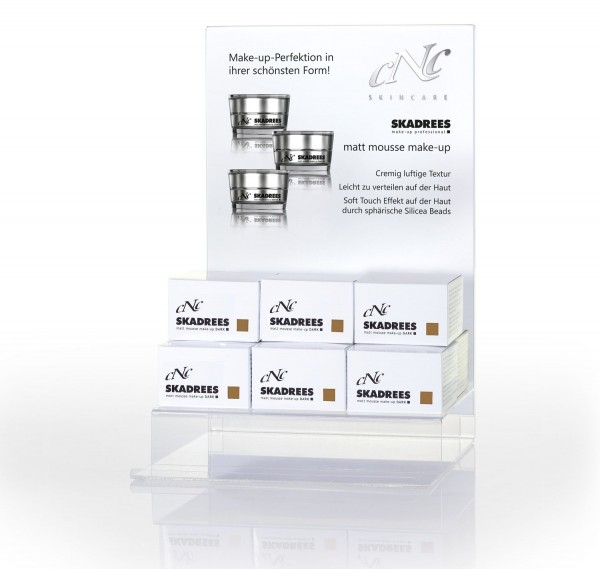 Display Komplettangebot SKADREES dark, 9 x 15 ml + 1 Tester + 15 Setkarten