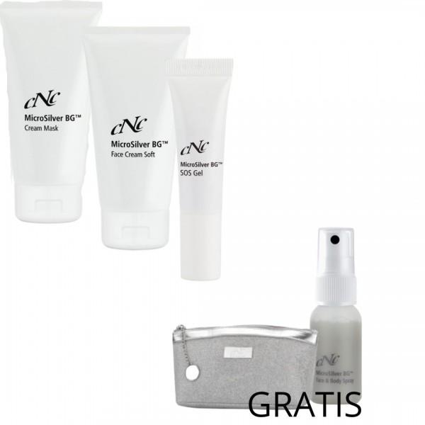 "MASKNE ""MicroSilver"" Face & Body Spray 30 ml und Kosmetiktasche GRATIS"
