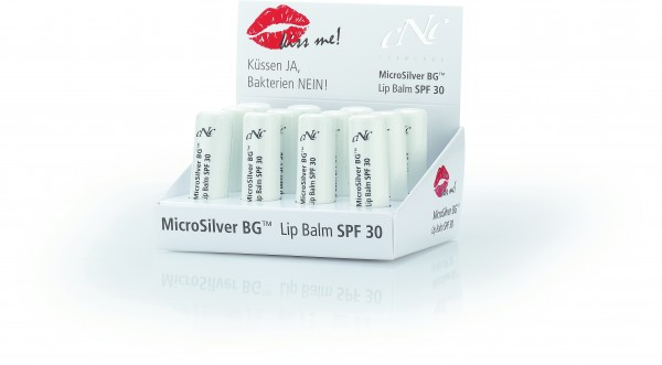 Display MicroSilver Lip Balm, SPF 30, 12 Stück