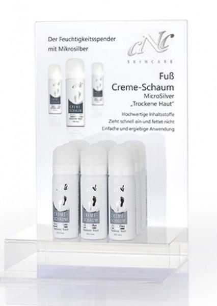 Fuß Creme-Schaum MicroSilver Display-Komplettangebot, 9 x 50 ml