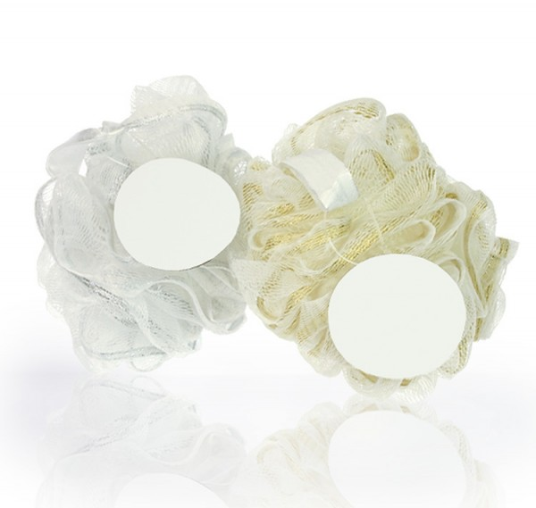 Netzschwamm, 40 g, silbener Rand
