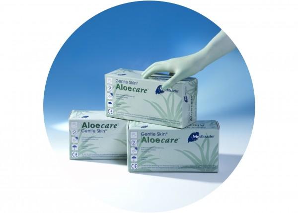 Einmal-Handschuhe, Gentle Skin Aloe Care, speziell für Sugaring, Größe S, 100 Stk.