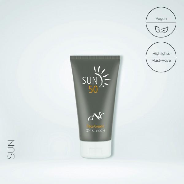 Sun Face Cream, SPF 50, 50 ml