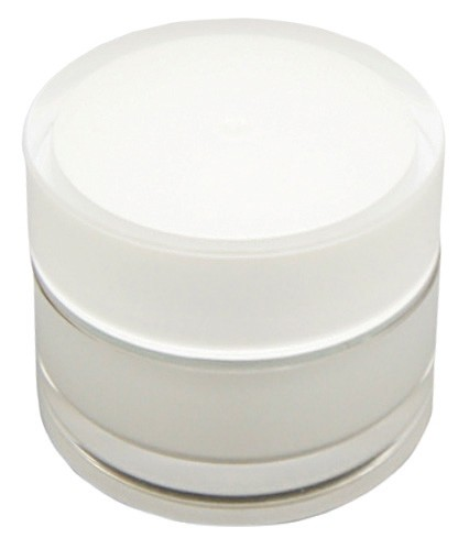 Kosmetik-Tiegel, Kunststoff, perlmutt, 5 ml 10er Pack