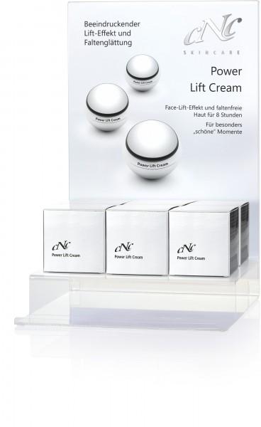 Power Lift Cream, Display-Komplettangebot, 7 x 30 ml + Rückenschild + 15 Setkarten