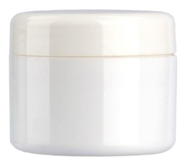 Kosmetik-Tiegel aus Kunststoff, weiss 5ml, 10er Pack