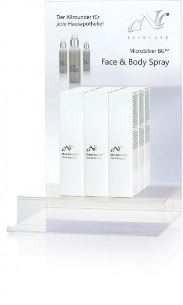 MicroSilver Face & Body Spray, Display-Komplettangebot, 9 x 100 ml