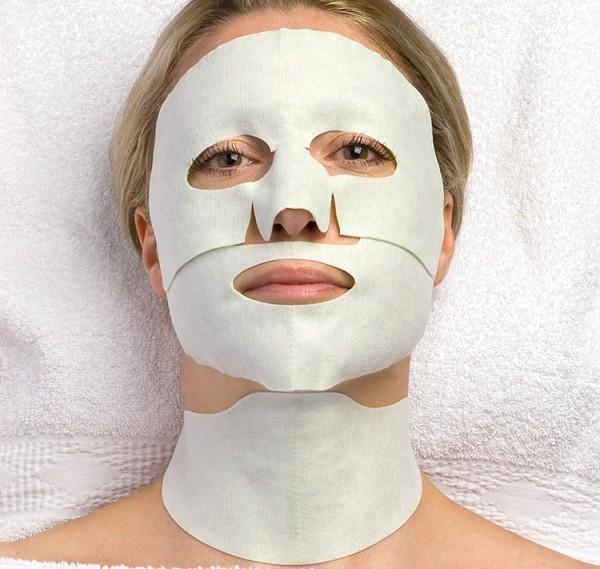 aesthetic world Hydrogel Face and Neck Mask, Einzelsachet, 3-teilig