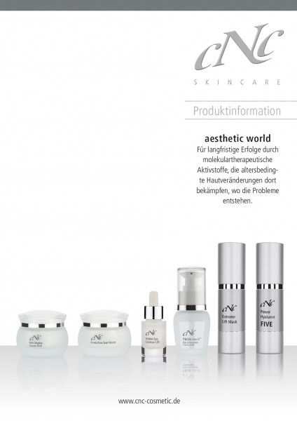 aesthetic world Produktinfobroschüre