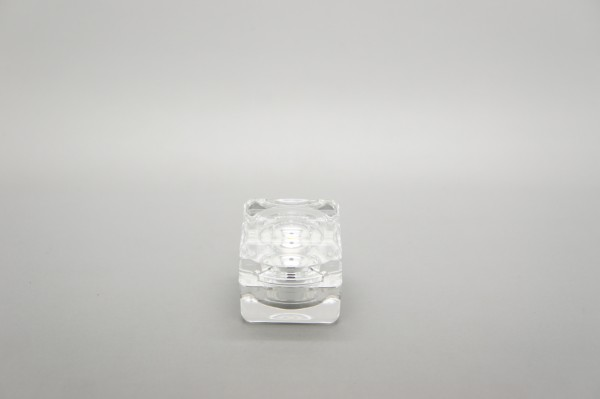Kosmetik-Tiegel, Acryl, mit silbernem Innentiegel, 5 ml 10er Pack