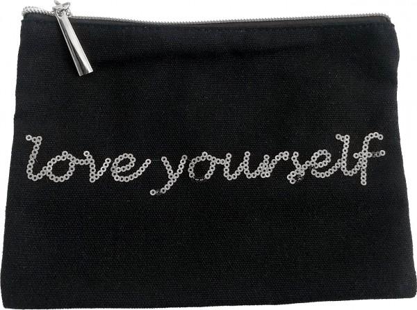 """Kosmetiktasche """"love yourself"""""""