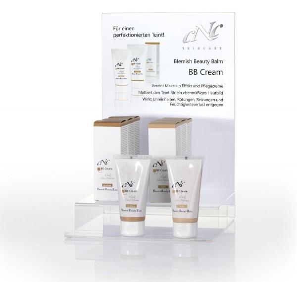 Display Komplettangebot BB Cream light/medium, 3 x 50 ml light +3 x 50 ml medium + jew. 1 Tester