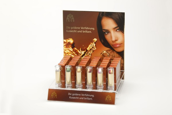 IKOS Leer-Display für Lippenstifte 30 + 6 Tester inklusive