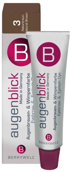 Berrywell® Wimpernfarbe #3 naturbraun, 15 ml