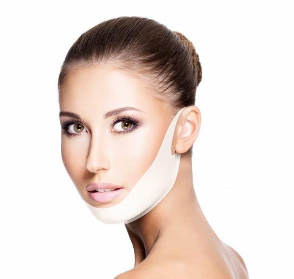 Hydrogel Kinn-Maske V-line, 4 Stück
