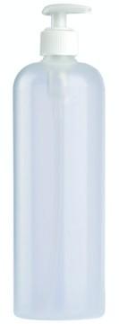 Kosmetik-Flasche, Kunststoff transparent, 500 ml