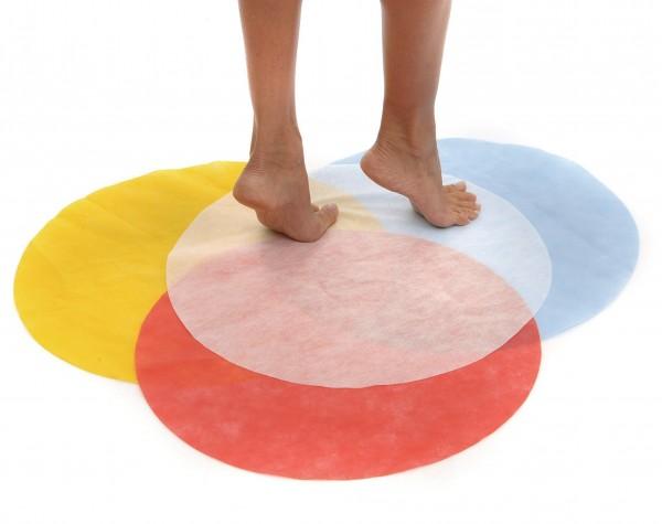 Fußmatte aus Vlies, 50 Stk., rund