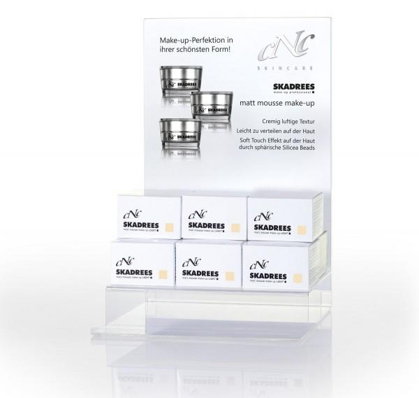 Display Komplettangebot SKADREES light, 9 x 15 ml + 1 Tester + 15 Setkarten